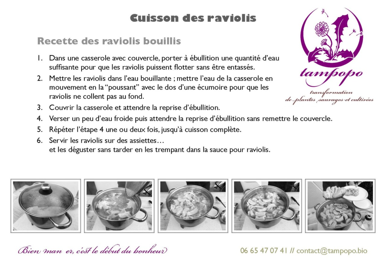 La cuisson des raviolis