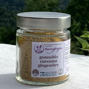 Gomashio curcuma gingembre de Tampopo