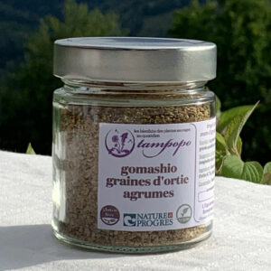 Gomashio graines d'ortie agrumes de Tampopo