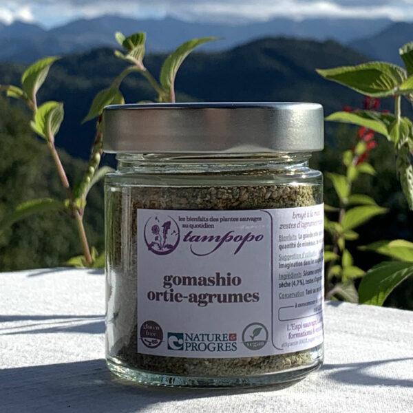 Le gomashio ortie-agrumes de Tampopo