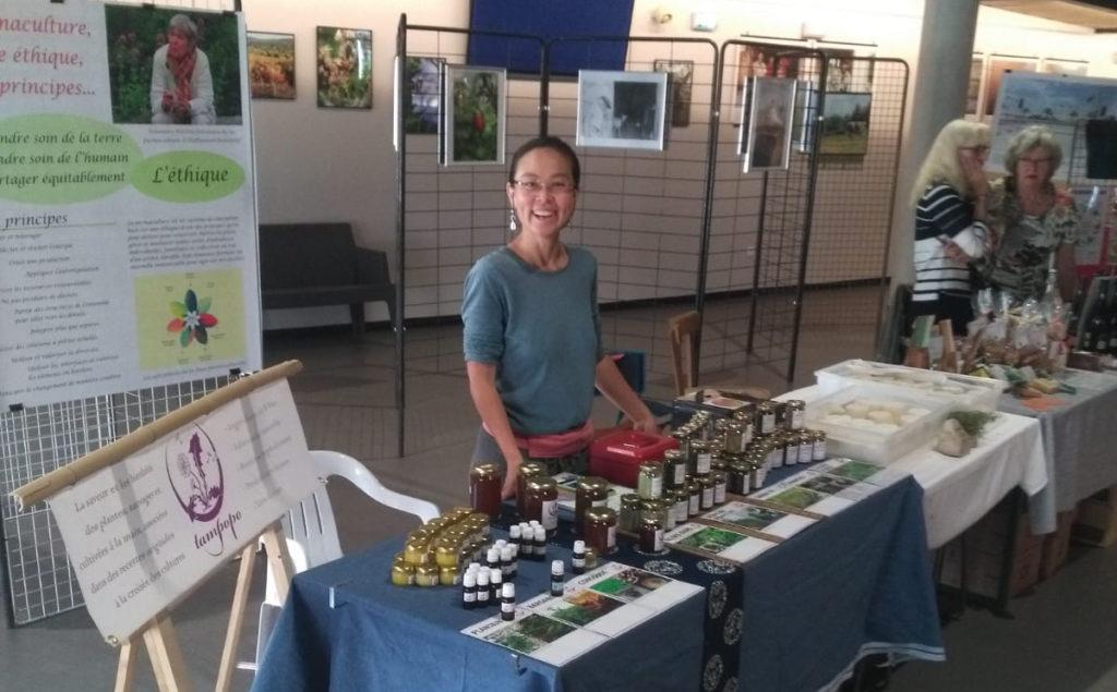 """Tampopo à Aubenas, pour un évènement """"production et monnaie locale""""."""