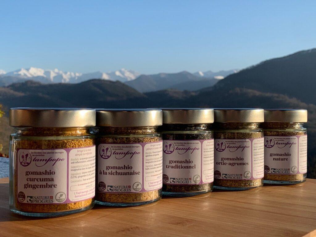 Nouvelle gamme et nouvel étiquetage, avec la mention Nature & Progrès, pour les gomashios de Tampopo
