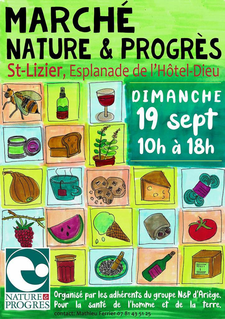 19 septembre 2021 : premier marché Nature & Progrès d'Ariège, à Saint-Lizier