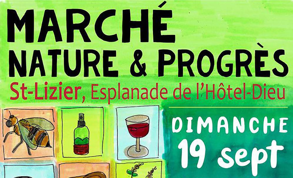 Premier marché Nature & Progrès en Ariège, à Saint-Lizier