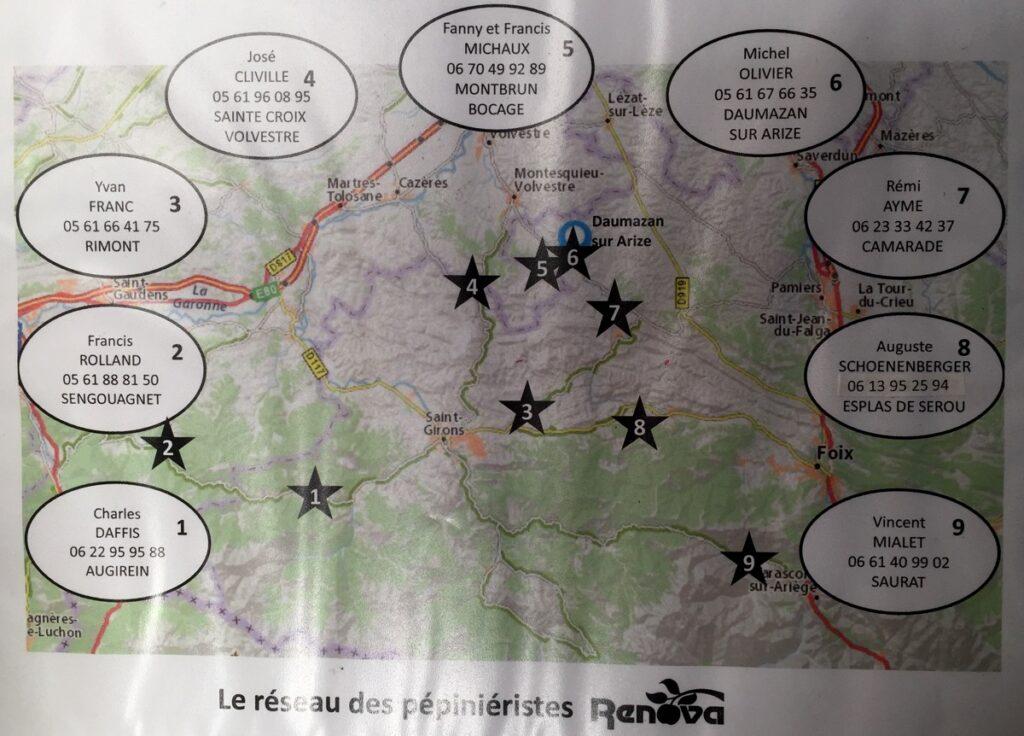 Le réseau de pépiniéristes de la fédération Rénova