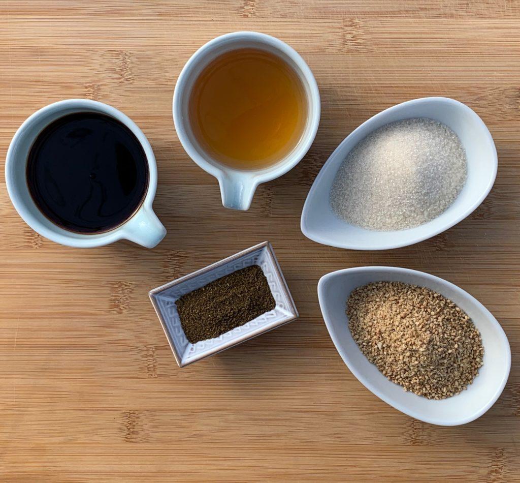 Sauce Sichuan aigre-douce : les ingrédients