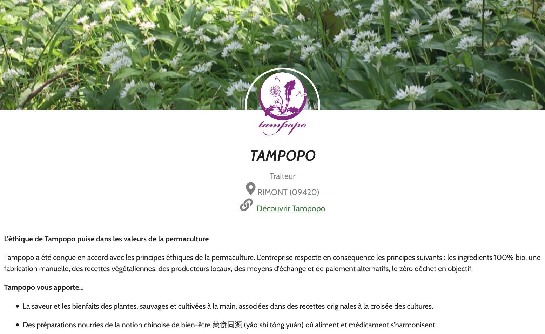 Tampopo rentre dans cagette.net
