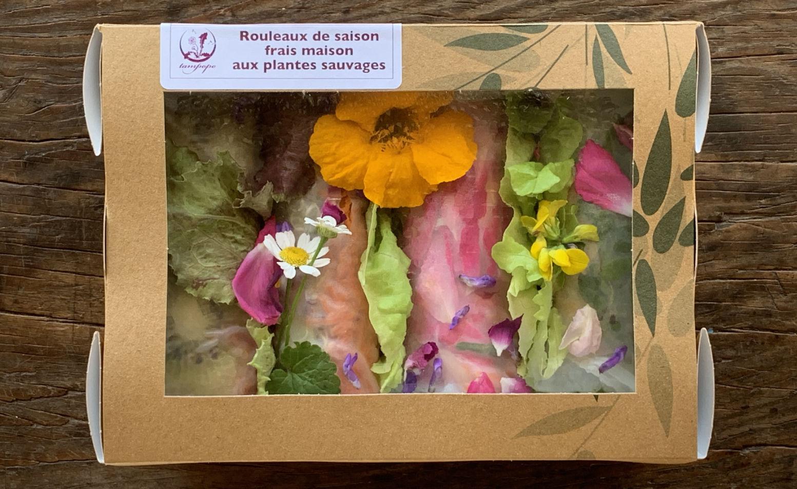 Rouleaux de saison : composition végétale, lot par lot